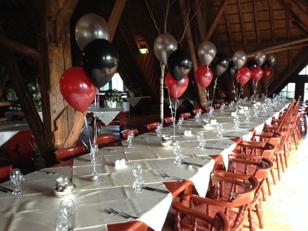 ballonnen tafelboeketjes