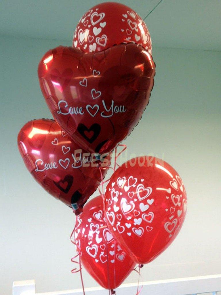 Valentijn helium ballonnen