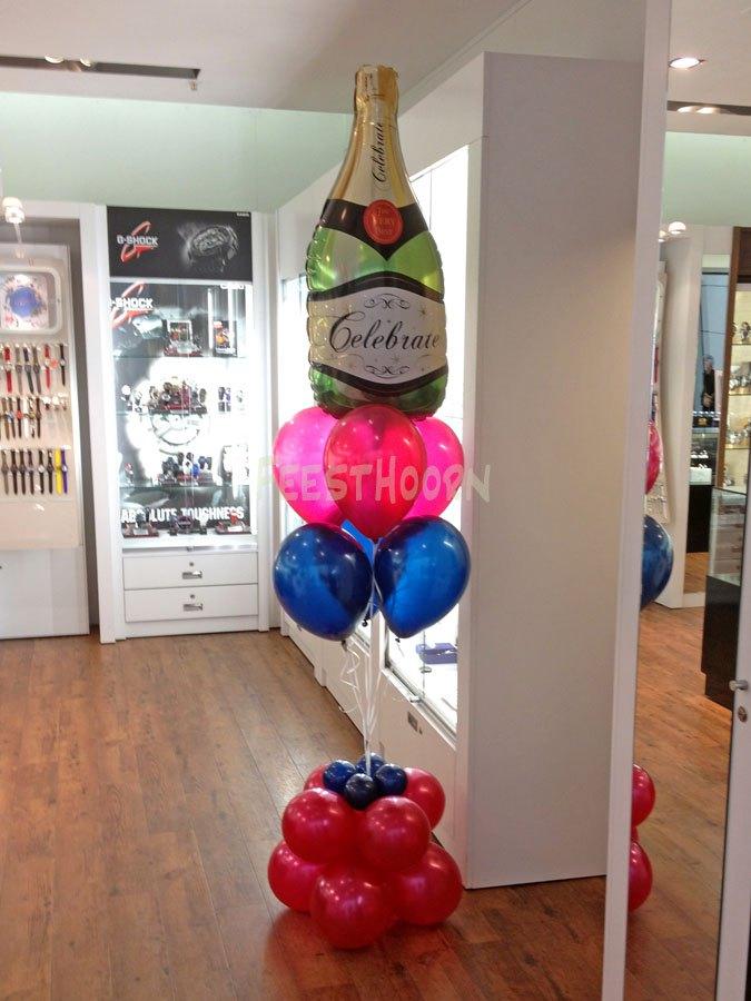 Helium ballon champagnefles