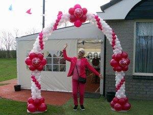 Bruids ballonnenboog