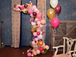 organische ballonnenboog bruiloft