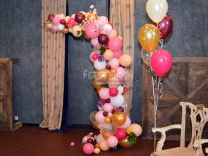 Bruiloft ballondecoratie