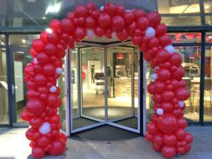 Organische ballonnenboog rood