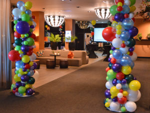 Oganische ballonnen zuil